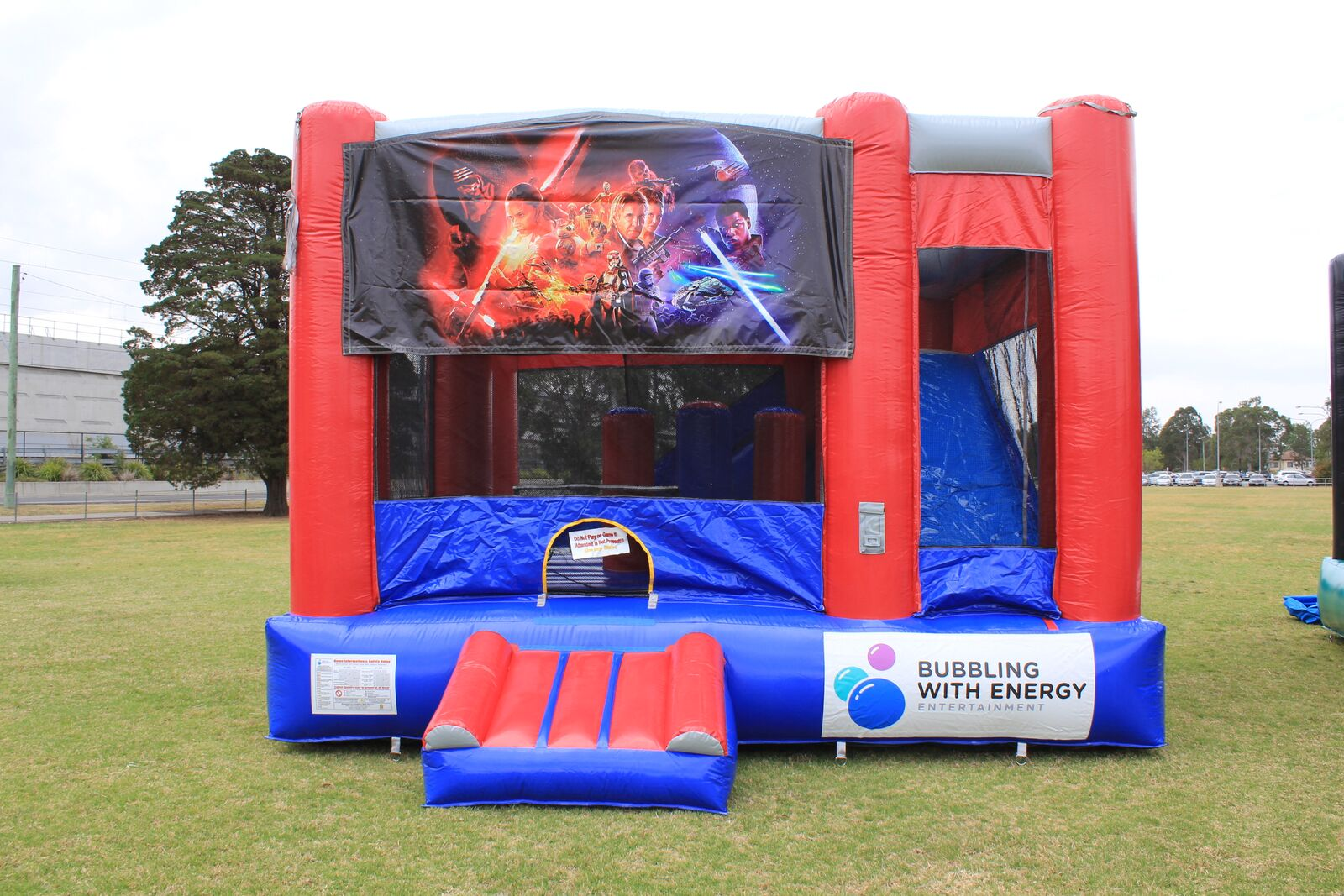 Star Wars C5 Jumping Castle Combo Sydney Hire Here To
